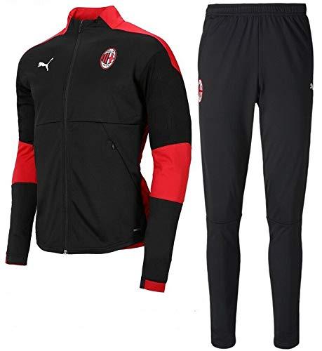 PUMA AC Milan Tuta Allenamento Training Tracksuit 2020 21 Uomo Nero - Tuta Rappresentanza Milan Originale
